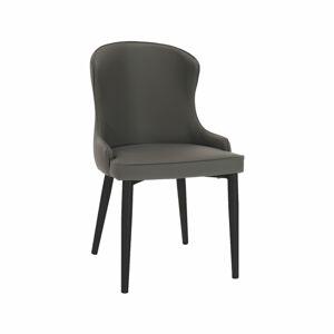 TEMPO KONDELA Sirena jedálenská stolička sivá / čierna