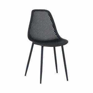TEMPO KONDELA Tegra jedálenská stolička čierna