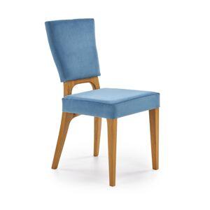 HALMAR Wenanty jedálenská stolička dub medový / modrá