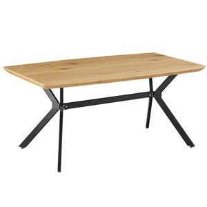 TEMPO KONDELA Mediter jedálenský stôl dub / čierna