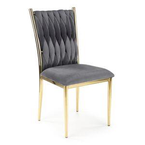 HALMAR K436 jedálenská stolička sivá / zlatá