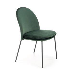HALMAR K443 jedálenská stolička tmavozelená / čierna