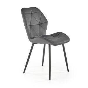 HALMAR K453 jedálenská stolička sivá / čierna