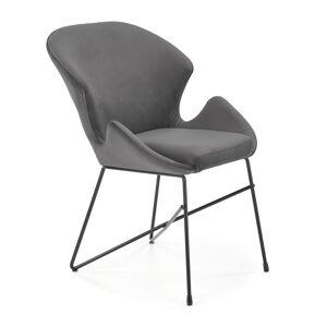 HALMAR K458 jedálenská stolička sivá / čierna