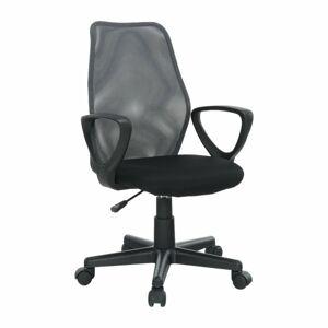 TEMPO KONDELA BST 2010 New kancelárska stolička s podrúčkami čierna / sivá