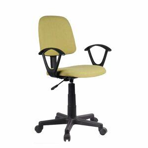 TEMPO KONDELA Tamson kancelárska stolička s podrúčkami zelená / čierna