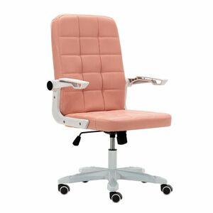 TEMPO KONDELA Zargo kancelárske kreslo ružová / biela