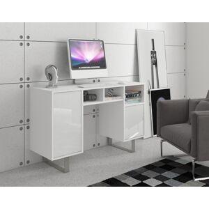 MEBLOCROSS King KIN-09 pc stôl biela / biely lesk