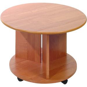 MEBLOCROSS Kolko/D konferenčný stolík na kolieskach jelša