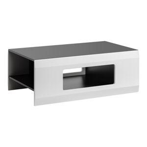 FURNIVAL Clif konferenčný stolík grafit / biela