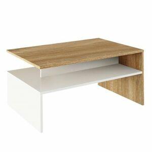 TEMPO KONDELA Damoli konferenčný stolík dub sonoma / biela