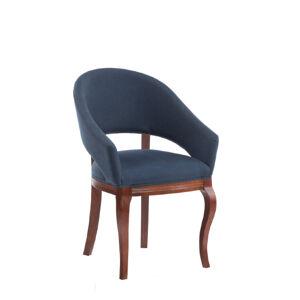 TARANKO Krzeslo U2 jedálenské kreslo kráľovská modrá (B3 5071) / dub Como