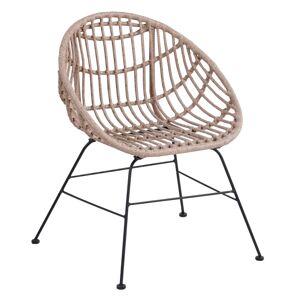 KONDELA Laird záhradná stolička prírodná / čierna