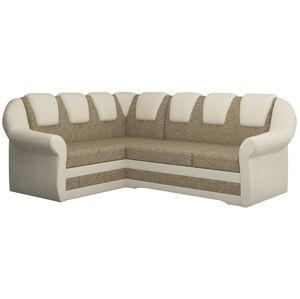 NABBI Latino II L rohová sedačka s rozkladom a úložným priestorom cappuccino / béžová