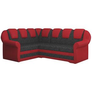 NABBI Latino II L rohová sedačka s rozkladom a úložným priestorom čierna / červená