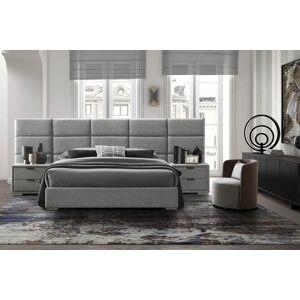 HALMAR Levanter 160 čalúnená manželská posteľ s roštom sivá
