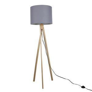 TEMPO KONDELA Lila Typ 7 stojacia lampa sivá / prírodná