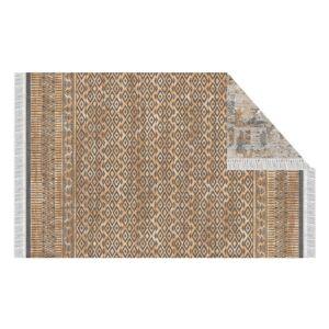 KONDELA Madala obojstranný koberec 120x180 cm vzor / hnedá