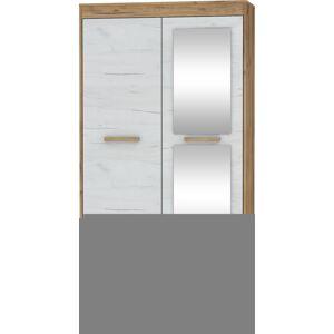 MEBLOCROSS Maximus MXS-04 2D šatníková skriňa so zrkadlom craft zlatý / craft biely