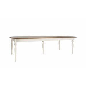 TARANKO Florencja FL-S1 rozkladací jedálenský stôl so skrinkou vanilka / dub Florencja