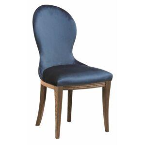 TARANKO Krzeslo U3 jedálenská stolička tmavomodrá (Velvet-B1 261) / dub Como