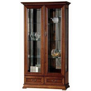 TARANKO Raweno R-W2 rustikálna vitrína s osvetlením toffi