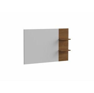 TARANKO Torino TO tv panel na stenu biely vysoký lesk / dub Torino