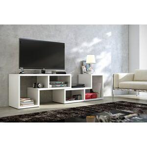 MEBLOCROSS Top univerzálny tv stolík biela