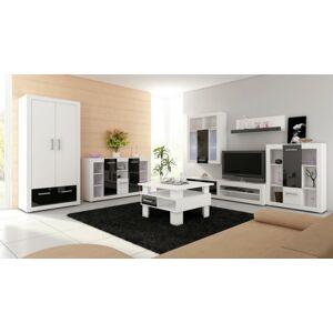 MEBLOCROSS Viki obývacia izba biela / čierna