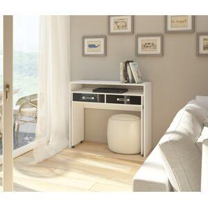 MEBLOCROSS Zoom pc stolík biela / čierna
