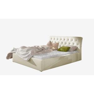 NABBI Monzo 200 čalúnená manželská posteľ s roštom béžová