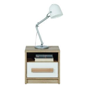 BOG-FRAN Aygo AG13 nočný stolík pieskový buk / biela