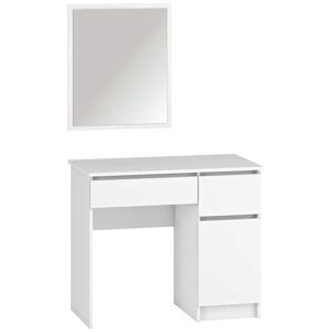 NABBI Laholm toaletný stolík so zrkadlom biela