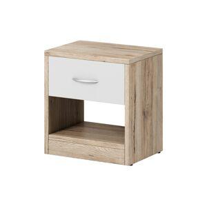 RENAR Naka 1S nočný stolík dub san remo / biela