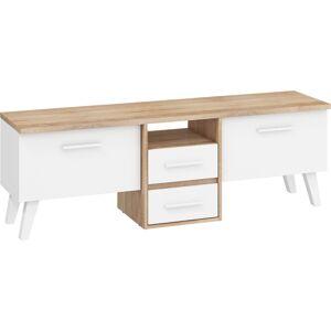 MEBLOCROSS Nordis NOR-13 tv stolík sonoma svetlá / biela