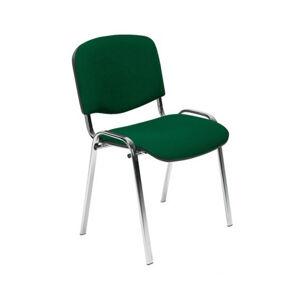 NOWY STYL Iso Chróm konferenčná stolička chrómová / zelená (C32)