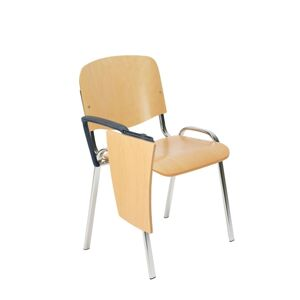NOWY STYL Iso Wood konferenčná stolička so stolíkom buk / chróm
