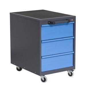 NABBI P8 mobilný kontajner k pracovnému stolu na kolieskach grafit / modrá