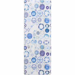 TEMPO KONDELA Parlin koberec 80x200 cm modrá / krémová