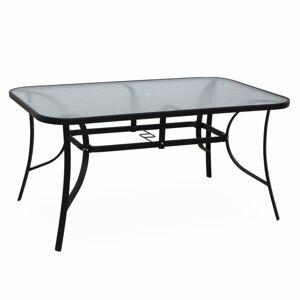 TEMPO KONDELA Paster záhradný stôl čierna