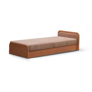 NABBI Pinerolo 80 P jednolôžková posteľ s úložným priestorom hnedá