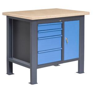 NABBI PL01L/P7P9 pracovný stôl grafit / modrá