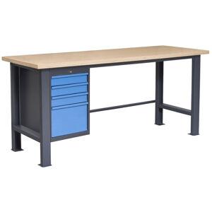 NABBI PL03L/P4 pracovný stôl grafit / modrá