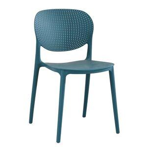 TEMPO KONDELA Fedra plastová stolička modrá