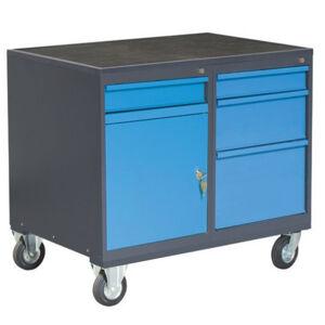 NABBI PLW01G/P2P5 dielenský vozík na kolieskach so zámkom grafit / modrá