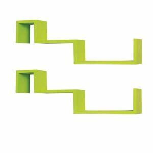 TEMPO KONDELA Fri New poličky (2 ks) zelená