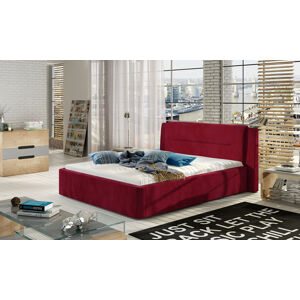 NABBI Portima 180 čalúnená manželská posteľ bordová