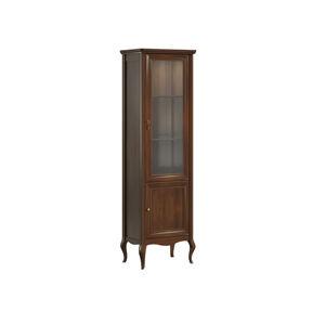 TARANKO Prato PR-W1/2 P rustikálna vitrína višňa 02