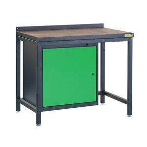 NABBI PSS01D/L1 pracovný stôl grafit / zelená