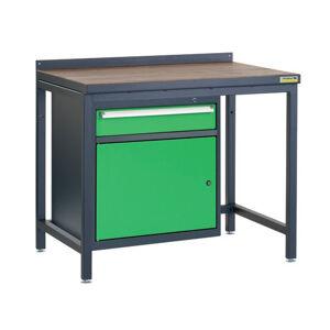 NABBI PSS01D/L3 pracovný stôl grafit / zelená